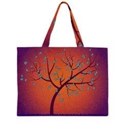 Beautiful Tree Background Zipper Large Tote Bag