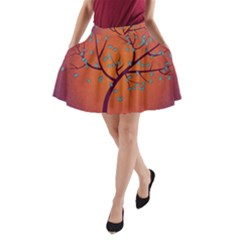 Beautiful Tree Background A-Line Pocket Skirt