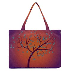 Beautiful Tree Background Medium Zipper Tote Bag