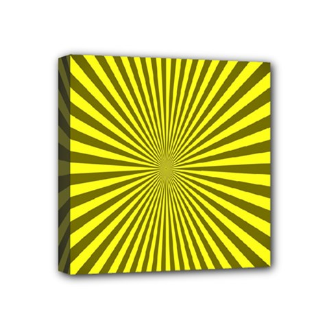 Sunburst Pattern Radial Background Mini Canvas 4  x 4