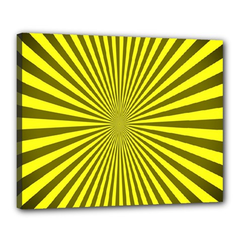 Sunburst Pattern Radial Background Canvas 20  X 16