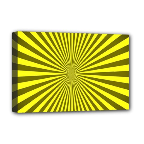 Sunburst Pattern Radial Background Deluxe Canvas 18  x 12