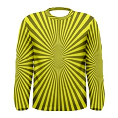 Sunburst Pattern Radial Background Men s Long Sleeve Tee