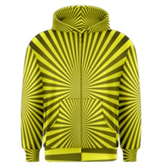 Sunburst Pattern Radial Background Men s Zipper Hoodie
