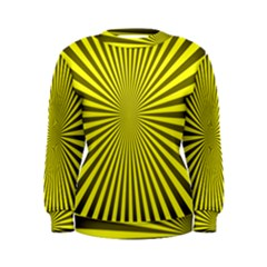 Sunburst Pattern Radial Background Women s Sweatshirt