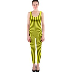 Sunburst Pattern Radial Background OnePiece Catsuit