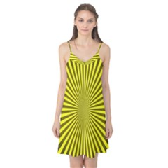 Sunburst Pattern Radial Background Camis Nightgown