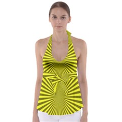 Sunburst Pattern Radial Background Babydoll Tankini Top