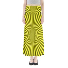 Sunburst Pattern Radial Background Maxi Skirts