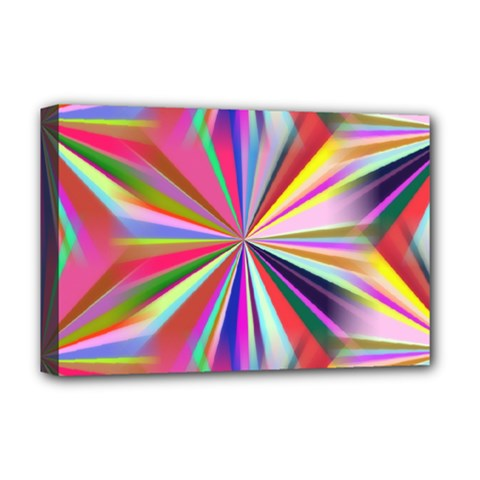 Star A Completely Seamless Tile Able Design Deluxe Canvas 18  x 12
