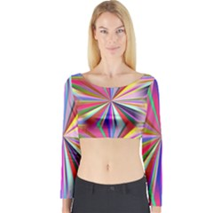 Star A Completely Seamless Tile Able Design Long Sleeve Crop Top