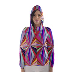 Star A Completely Seamless Tile Able Design Hooded Wind Breaker (women)