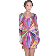 Star A Completely Seamless Tile Able Design Long Sleeve Nightdress