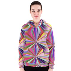 Star A Completely Seamless Tile Able Design Women s Zipper Hoodie