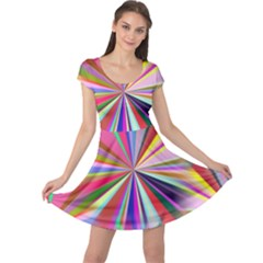 Star A Completely Seamless Tile Able Design Cap Sleeve Dresses