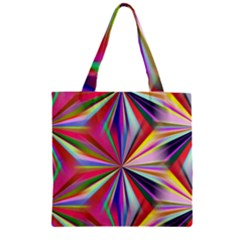 Star A Completely Seamless Tile Able Design Zipper Grocery Tote Bag