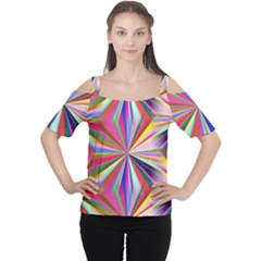 Star A Completely Seamless Tile Able Design Women s Cutout Shoulder Tee