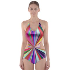 Star A Completely Seamless Tile Able Design Cut-Out One Piece Swimsuit