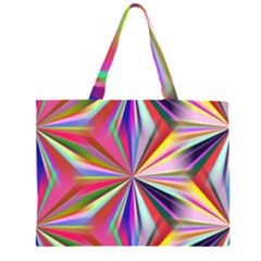 Star A Completely Seamless Tile Able Design Zipper Large Tote Bag