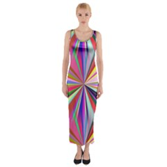 Star A Completely Seamless Tile Able Design Fitted Maxi Dress