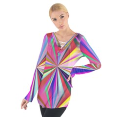 Star A Completely Seamless Tile Able Design Women s Tie Up Tee