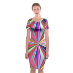 Star A Completely Seamless Tile Able Design Classic Short Sleeve Midi Dress