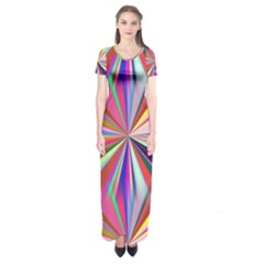 Star A Completely Seamless Tile Able Design Short Sleeve Maxi Dress