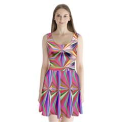 Star A Completely Seamless Tile Able Design Split Back Mini Dress