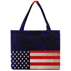 Grunge American Flag Background Mini Tote Bag