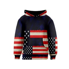 Grunge American Flag Background Kids  Pullover Hoodie