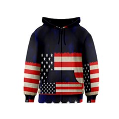 Grunge American Flag Background Kids  Zipper Hoodie