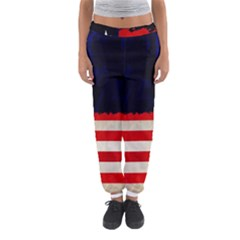 Grunge American Flag Background Women s Jogger Sweatpants