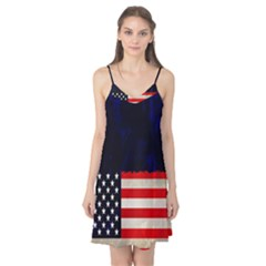 Grunge American Flag Background Camis Nightgown