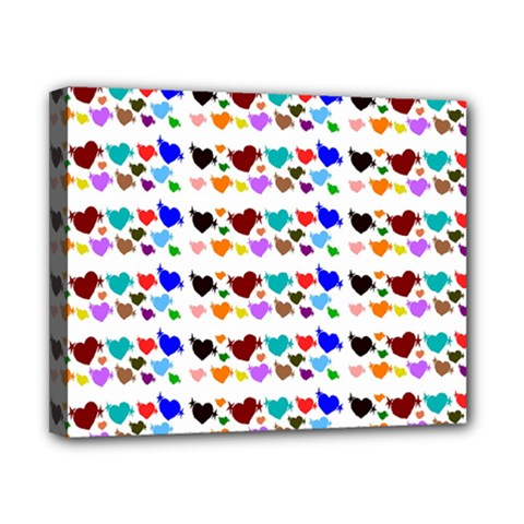 A Creative Colorful Background With Hearts Canvas 10  x 8