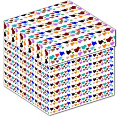 A Creative Colorful Background With Hearts Storage Stool 12
