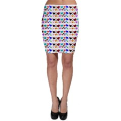 A Creative Colorful Background With Hearts Bodycon Skirt