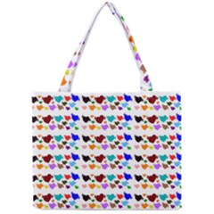 A Creative Colorful Background With Hearts Mini Tote Bag