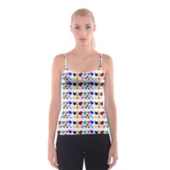 A Creative Colorful Background With Hearts Spaghetti Strap Top