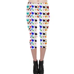 A Creative Colorful Background With Hearts Capri Leggings