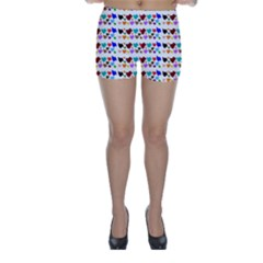 A Creative Colorful Background With Hearts Skinny Shorts