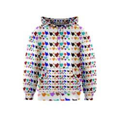 A Creative Colorful Background With Hearts Kids  Zipper Hoodie