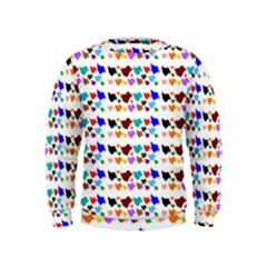 A Creative Colorful Background With Hearts Kids  Sweatshirt