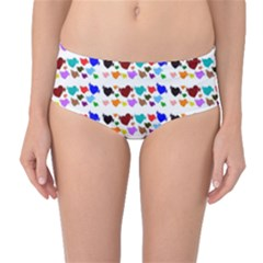 A Creative Colorful Background With Hearts Mid Waist Bikini Bottoms