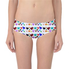A Creative Colorful Background With Hearts Classic Bikini Bottoms