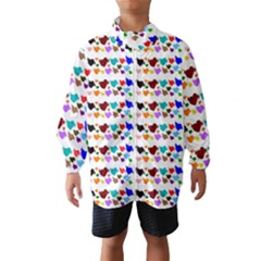 A Creative Colorful Background With Hearts Wind Breaker (Kids)