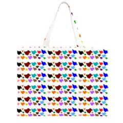 A Creative Colorful Background With Hearts Large Tote Bag