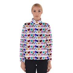 A Creative Colorful Background With Hearts Winterwear