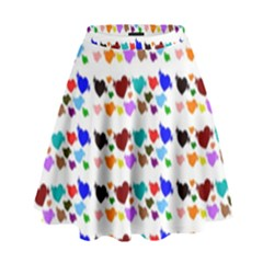 A Creative Colorful Background With Hearts High Waist Skirt