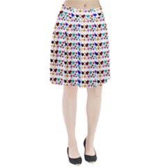 A Creative Colorful Background With Hearts Pleated Skirt