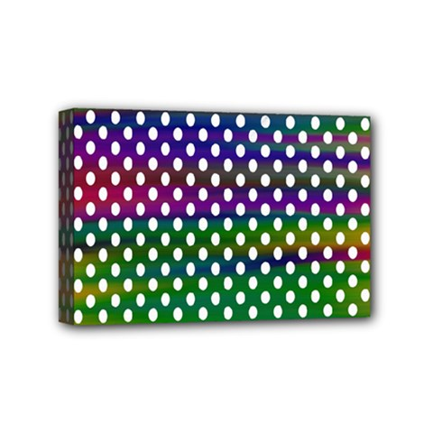 Digital Polka Dots Patterned Background Mini Canvas 6  x 4